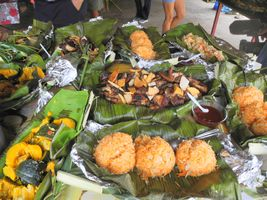 Les repas concoctés par la paroisse à l'arrivée et au départ des intervenants étaient 100 % bio, bien sûr.
